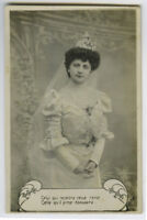c 1910 Glamour Glamor PRETTY YOUNG BRIDE Wedding Marriage photo postcard