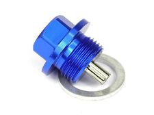 Magnetic Oil Sump Drain Plug - Suzuki 1985 & on -  M14x1.5 BLUE Includes washer