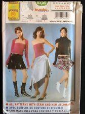 Pattern Burda 8250 misses' tiered skirt, bias, various lengths 8-20