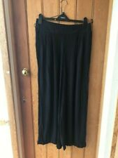 warehouse beach ware dark navy crinkle wide trousers medium bnwt