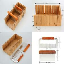 Wood Soap Mold Loaf Cutter with 1pcs Wavy & Straight Planer 1 Nches
