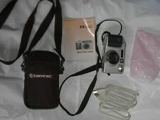 Tamrac Model 220 Black Camera Bag & Hp 618 Digital Camera with Cord & Book(Disc)