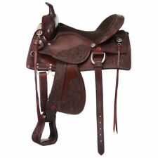 "Tough-1 Jacksonville Western Trail Saddle Wide Tree / Draft 16"" Dark Oil"