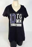 Women's Under Armour Dallas Texas Black V-Neck Vintage Short Sleeve Tee T-Shirt