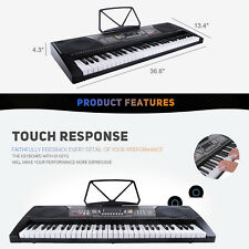 61 Key Digital Music Piano Electronic Keyboards Electric portable Organ w/Stand