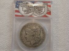 LOT #6U, 1889CC MORGAN SILVER DOLLAR, KEY DATE, ANACS GENUINE