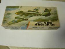 Vintage airfix 1/72 model Meteor III plane