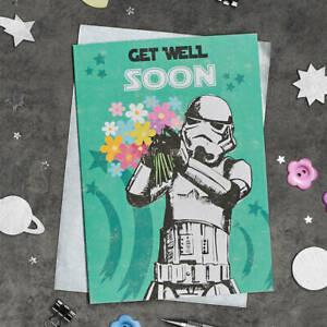 Star Wars Stormtrooper Card Get Well Soon Retro Vintage
