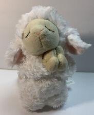 """Ganz Praying Kneeling Inspirational Soft White Baby Lamb Sheep Plush 8"""" Lovey"""