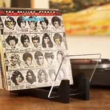 KAIU Vinyl Record Storage - Solid Wood with Crystal Clear Acrylic Holder - Pr...