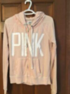 Junior's Victoria's Secret Pink Full Zip Hoodie Medium