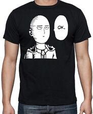 One Punch Man Saitama OK Funny Gym Japanese Anime Manga Mens Black T Shirt
