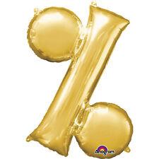 Symbol '%' Gold 34 Inch Supershape Foil Balloon