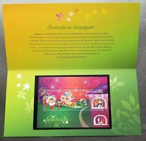 [SJ] Singapore Festivals 2012 Diwali Fireworks Lion Dance Christmas (p.pack) MNH