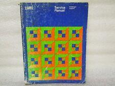 1981 SERVICE MANUAL CHALLENGER SAPPORO 81-270-1005