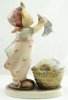 Goebel Hummel Porcelain Figurine #321 Wash Day TMK 4 Crazing Little Girl Washing