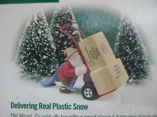 """Dept 56 North Pole #56435 """"Delivering Real Plastic Snow"""" New In Box"""
