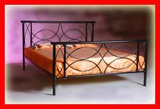 Handgearbeitet doppel Metallbett Sofia 140 x 200 inkl. Lattenrost., Farbenwahl