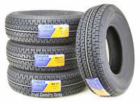 Set 4 WINDA Radial Trailer Tires ST225/75R15 10PR LR E Steel Belted