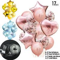 "17pcs/set Muti-Balloons Set Latex & Foil Ballons Kids Boy Girl Baby 12"" & 18"" UK"