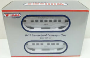 Williams 43264 Santa Fe O27 Streamline Passenger 4-Pack MT/Box