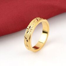 Men's Carved Ring 18K Yellow Gold Filled Fashion Jewelry Size 11
