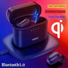 Auriculares Bluetooth 5.0 habilitado para Qi TWS Gemelos Auriculares Auriculares audífonos inalámbricos