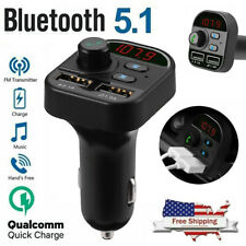 New listing Car Bluetooth Wireless Adapter Fm Transmitter Mp3 Radio Car Kit 2 Usb Charger