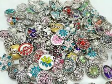 50pcs/lot mix style 18mm Snap Buttons alloy rhinestone Ginger Snap for bracelet