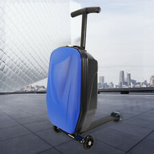 Foldable suitcase with a skateboard Airport Luggage Scooter Carrier Bag Suitcase