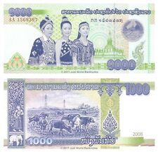 Laos 1000 Kip 2008 P-39 'Recalled Issue' 1st Prefix AA Banknotes  UNC