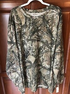 Mens Size 3XL True Timber Green Camo long sleeve pullover woods hunter shirt NWT