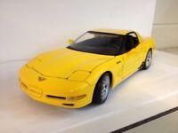 Maisto 2001 Corvette Rare Yellow 1/18