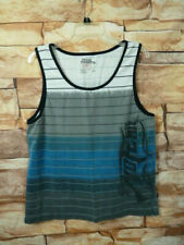 No Fear Mens Tank Top Tee Crewneck Black Gray Blue Size Large.J-42