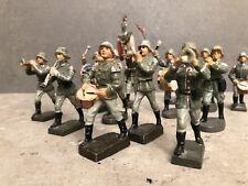 13 Masse Soldaten Kapelle Massefiguren Lineal Elastoin Trommler Pauker usw.....