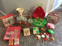 Vintage Strawberry Shortcake Lot : Includes Radio, Lunchbox, Game And More!