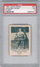 1952 Laval Dairy Subset Hockey Card Sherbrooke #57 Jacques Locas Graded PSA 5