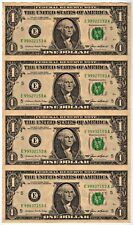 Uncut Richmond (E) Federal Reserve Note $1.00 Sheet of 4: Series 1985: BP76