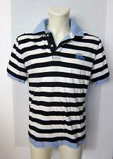 McNeal Poloshirt XL blau weiß Polo Shirt Streifen marine Betrügershirt gestreift