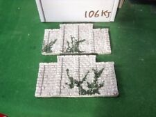 OO scale,HO gauge ROUGH STONE  BRIDGE SUPPORT  WALL X2  - PAINTED & Foliage