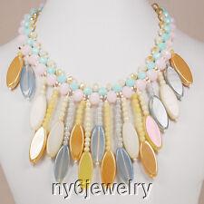 """Unique! Multi-Color Natural Agate Drop Beads Necklace 17"""""""