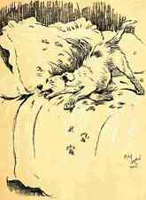 A3 Photo Aldin Cecil Dog Day 1902 Mucky pup Print Poster