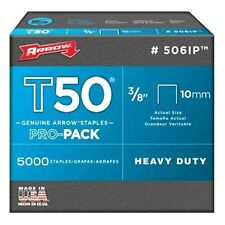 5000 x Arrow T50 10mm 3/8inch pro pack staples box of 5000 ARRT5038IP