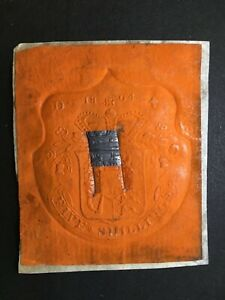GB REVENUE, Vermilion embossed with escutcheon, 5/- die D, dated 1804, for WRITS