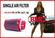 Filtro aria sportivo a cono BMC Ø1 70 Ø2 115 L 195 per auto universale tuning