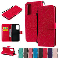 Sunflowers Wallet Leather Flip Case Cover For Huawei Y5P Y6P Y7P P40Lite Y7 2019