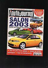 L'AUTO-JOURNAL  N° SPECIAL juillet 2002  / SALON 2003