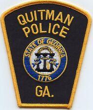 QUITMAN GEORGIA GA POLICE PATCH
