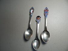 Vintage! 3Pc. Set of 1992 J.J. Finnish Gnome Enamel Spoons