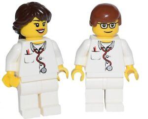 ☀️NEW Lego Minifig Doctor Male & Female w/ Stethoscope Nurse Hospital minifigure
